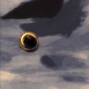 Jewelry - Dark sapphire earring with removable gold cuff